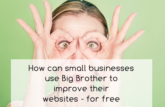 How can small businesses use Big Brother to improve their websites – for free